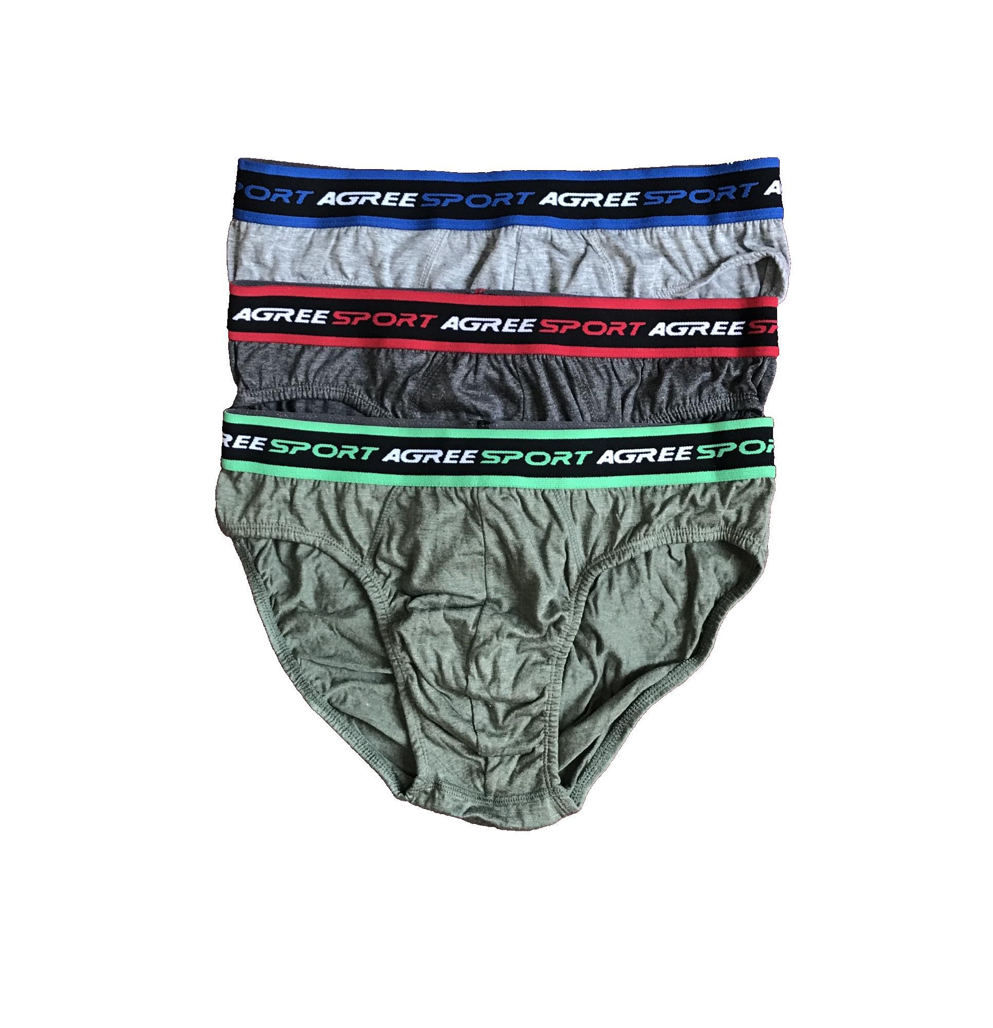 PADIe - 3 PCS Celana Dalam Pria Boxer AGREE SPORT Multi Colour /sempak/underwear Laki-laki