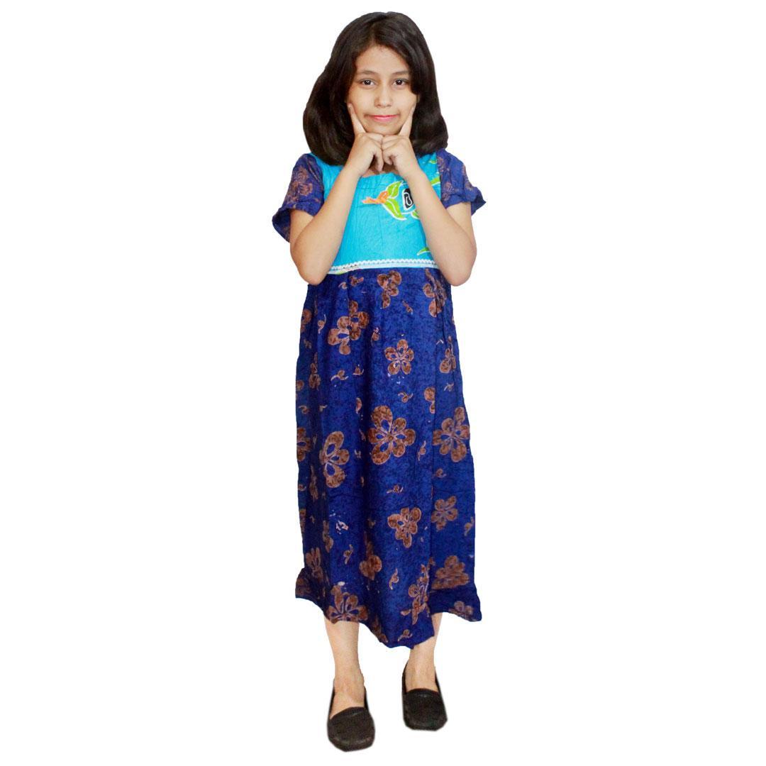 Daster Anak Batik, Baju Tidur Anak, Piyama Anak, Ukuran XL Usia 9-10 Tahun (BKA004) Batik Alhadi