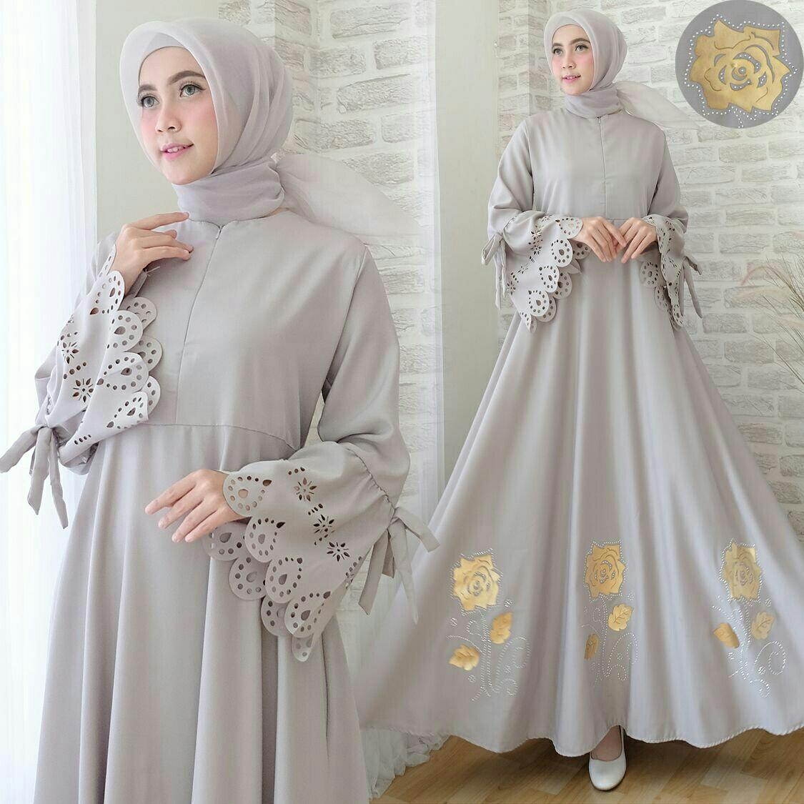 Kelebihan Lonics Gamis Monalisa Fillea Set Syari Busui Mayung Kayla New Baju Muslim Fashion Dress