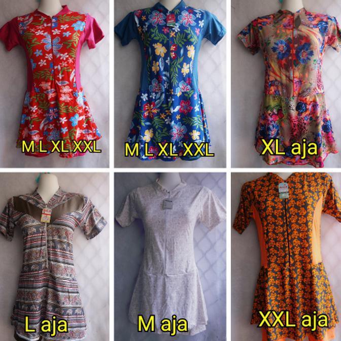 BEST SELLER!!! Baju Renang Rok Perempuan Cewek Remaja SMA-Dewasa Motif Bunga