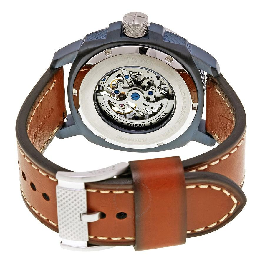 Review Fossil Jam Tangan Pria Otomatis Tali Kulit Rantai Case Original Fs4656 Machine Brown Leather Stainless Steel Me3135 Me3080 Me