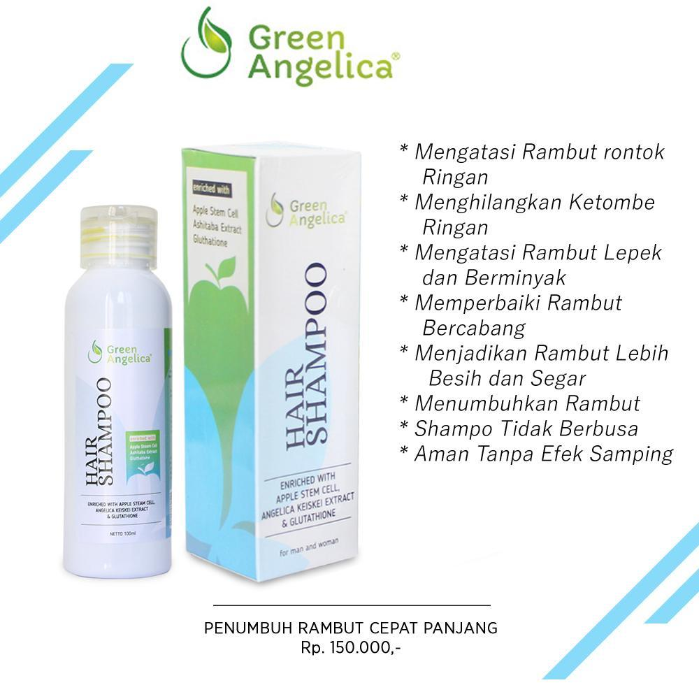 Shampo Penumbuh Rambut Cepat Herbal Alami Tanpa Efek Samping Green Angelica
