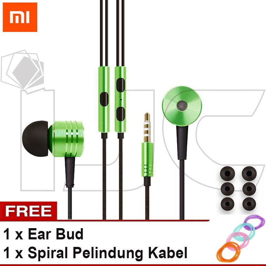 Xiaomi Earphone Big Bass Piston 2 Mi 2nd Generation Handsfree/Headset + Free Spiral Pelindung