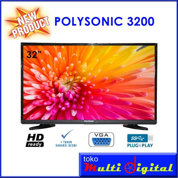 POLYSONIC LED TV 32 Inch - 3200 NEW PRODUK