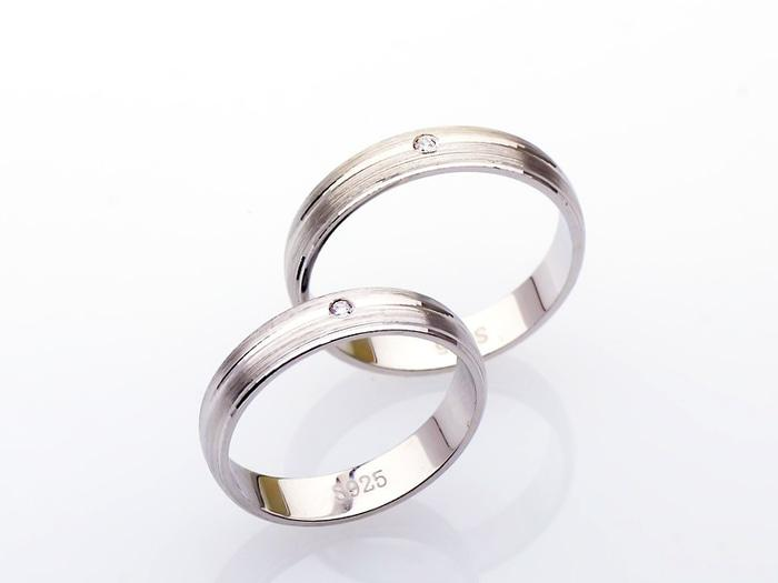 Ring Couple Korea- Silver Emas Putih ASLI- RC 033 (Garansi 6 Bulan)