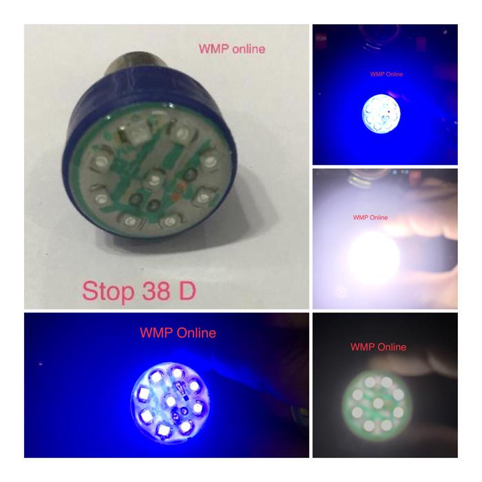 Lampu Stop Rem Belakang AD 38D 9led Kedip Warna Putih WMP-0518