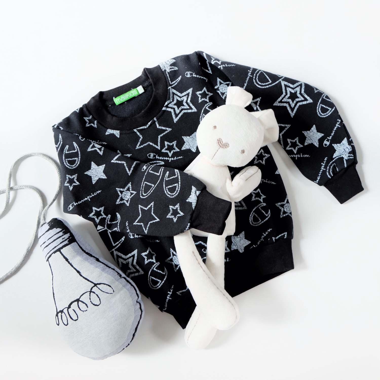 Malilkids Sweater Anak / Baju Hangat Anak / Mantel Anak - Motif Black Champion
