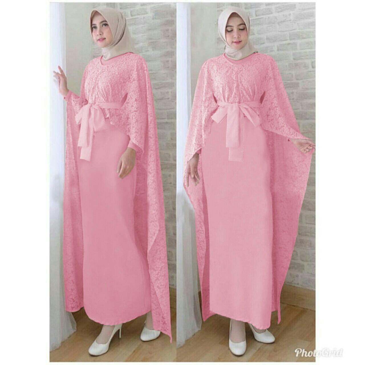 Cek Harga Baru Honeyclothing Dress Muslim Wanita Emmi Baju Gamis Riccel Maxi Hijab