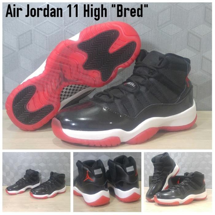 Sepatu Basket Air Jordan 11 (XI) High Bred (BlackRed) / nike / kyrie