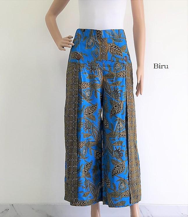 pitakita Celana Batik Kulot Panjang Kimberly K02-Biru