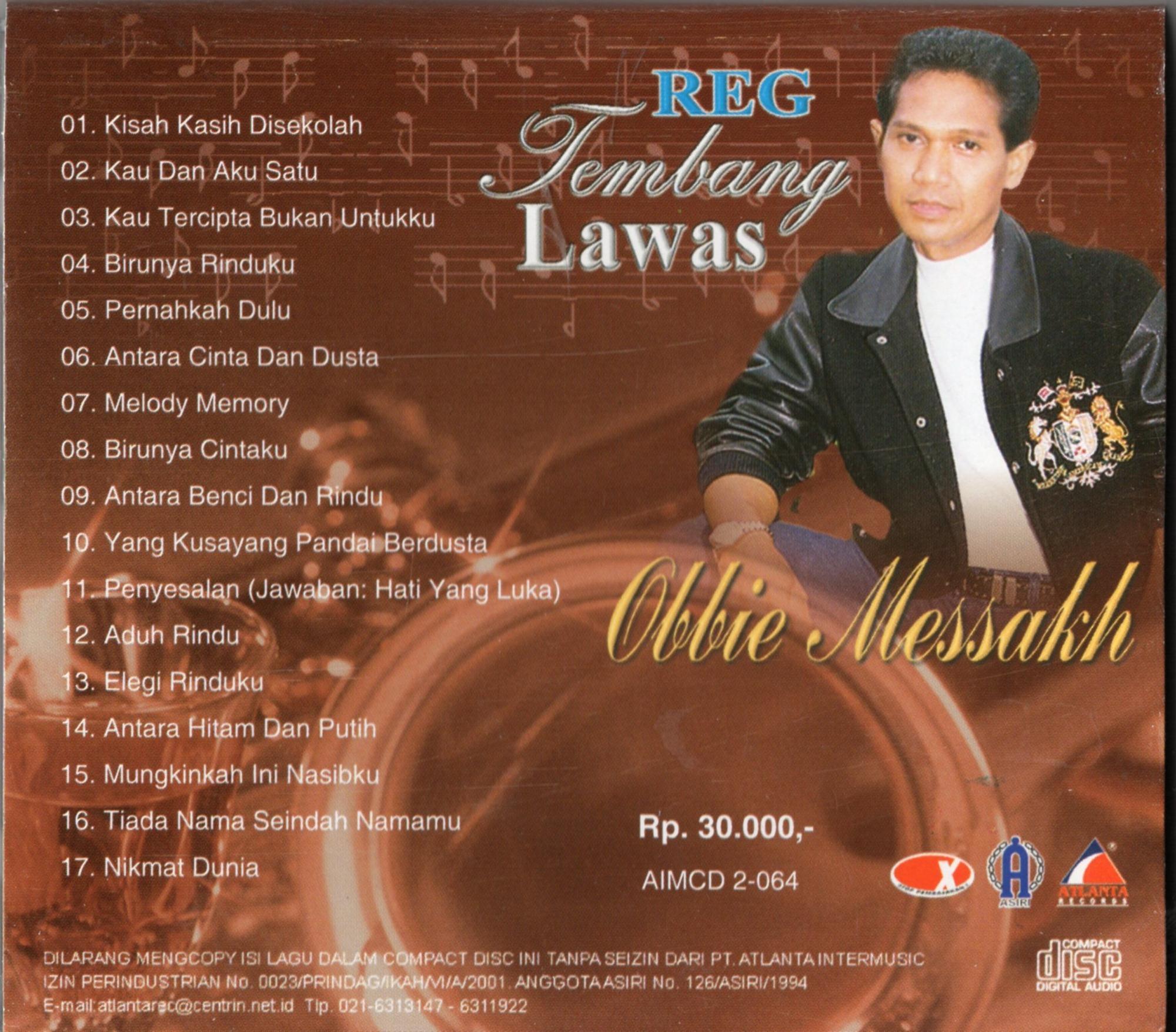 CD AUDIO ORIGINAL TEMBANG LAWAS OBBIE MESAKH