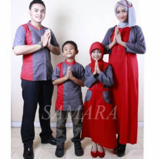 Sarimbit muslim seragam keluarga couple koko gamis ayah ibu dan anak baju termurah terbaru branded koko anak no 2,4,6