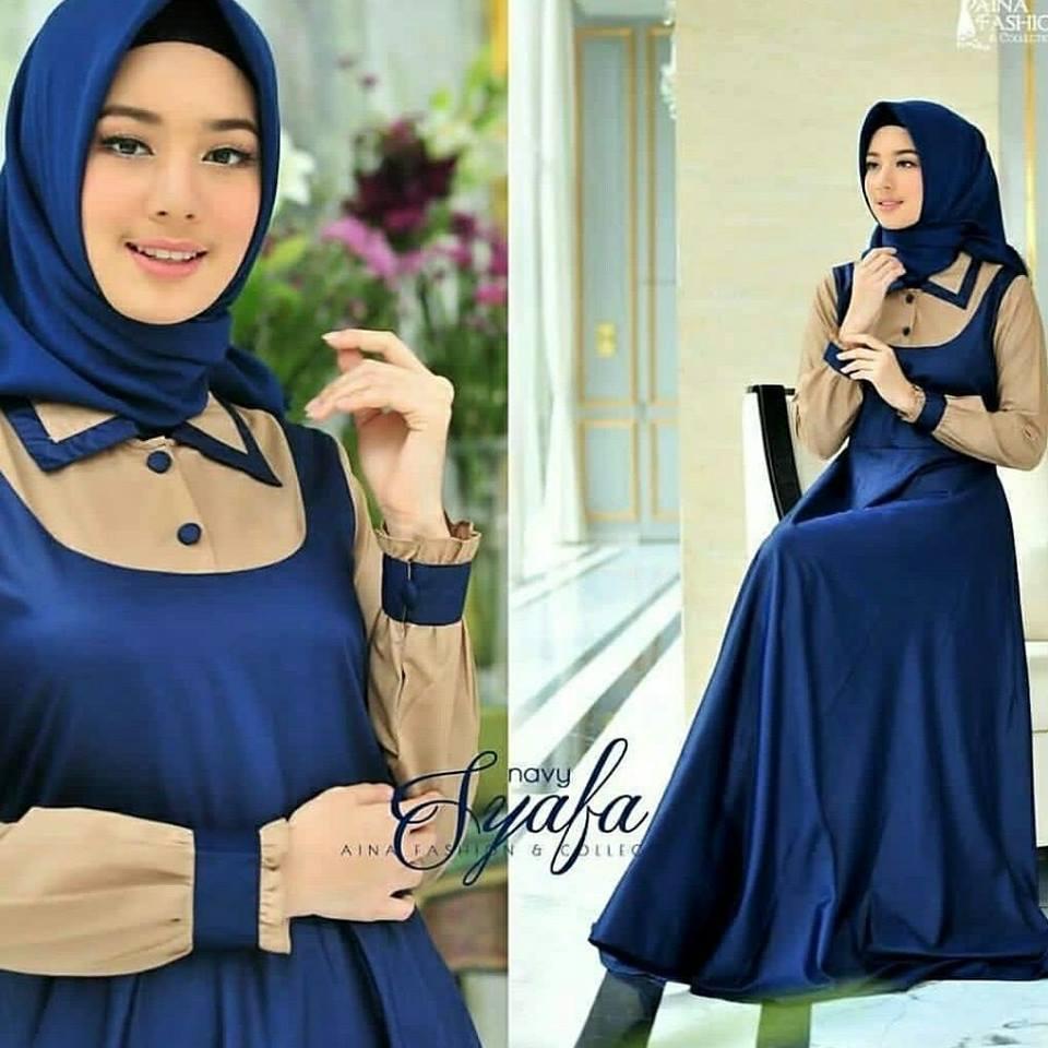 gamis cantik/ gamis wanita terbaru/ baju muslim wanita/ baju muslimah fashion