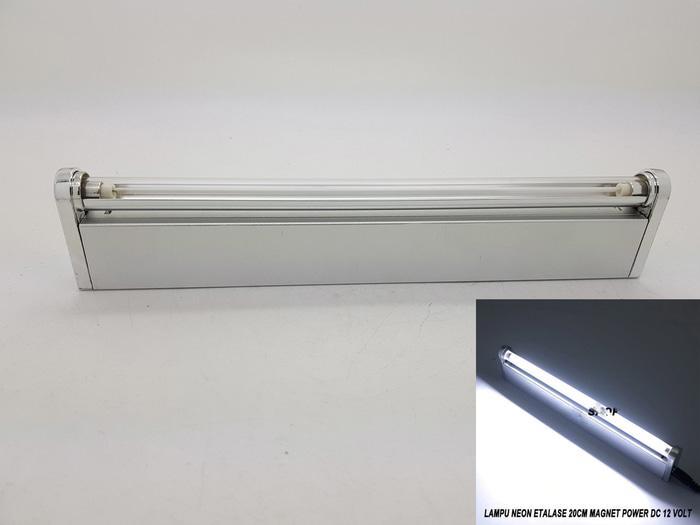 Lampu Neon Etalase 20cm Magnet Power DC 12 Volt