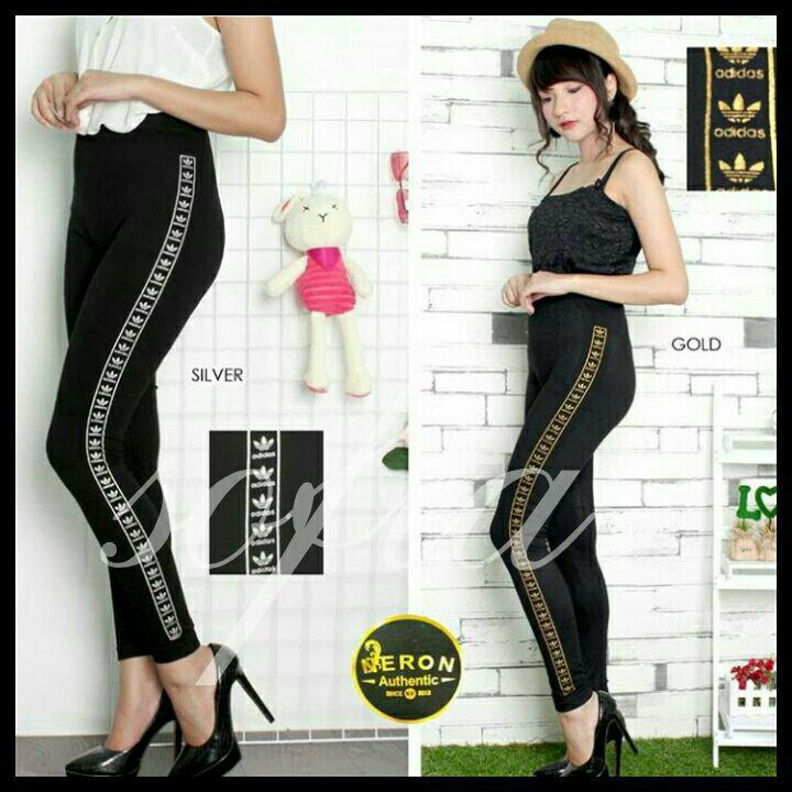 Leggings legging motif adidas legging motif pinggir legging dewasa legging wanita legging panjang
