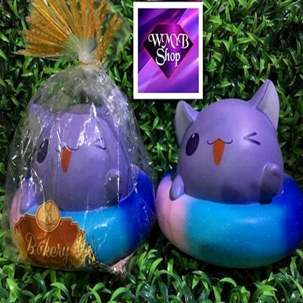 RAINBOW GALAXY CAT KUCING BY ERIC Original Licensed Squishy SOFT SLOW