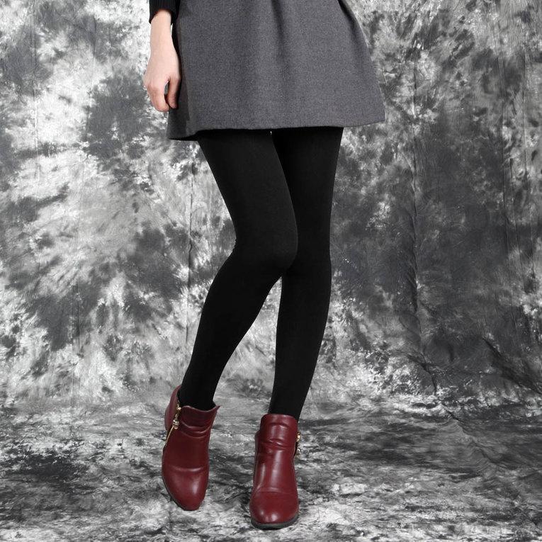 Wanita Musim Dingin Yang Hangat Tebal Tanpa Kaki Celana Ketat Kurus Ramping Legging Regang Celana