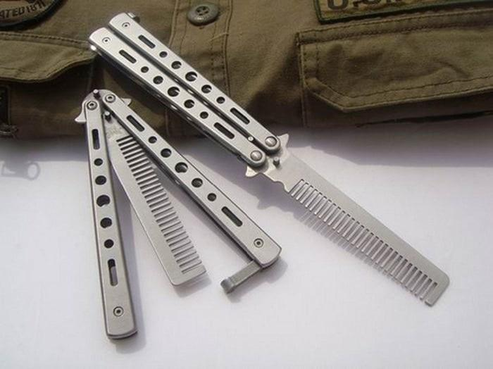 Butterfly Benchmade Switchblade BALISONG comb Sisir Lipat Pisau pomad - WWZDya