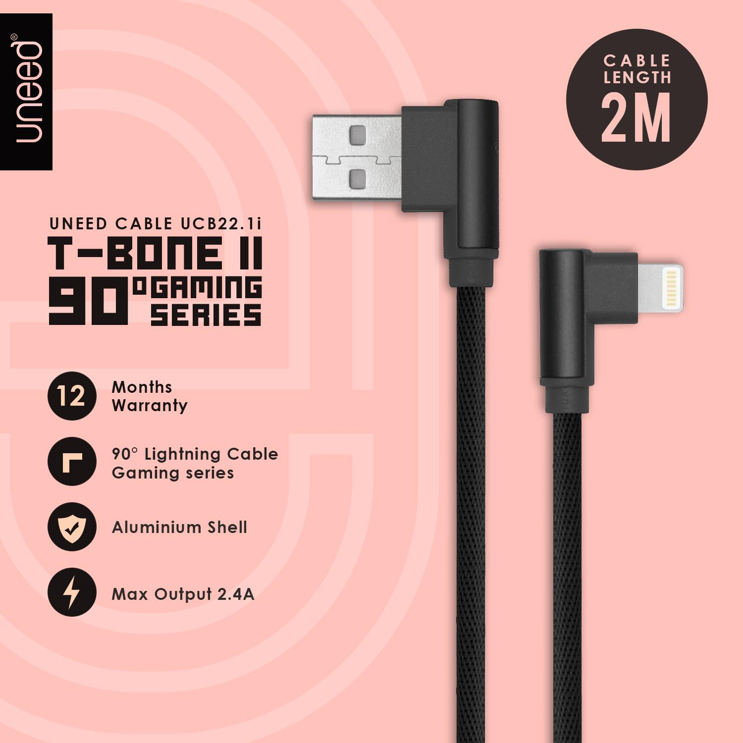 Review Uneed T Bone Ii Kabel Data Micro Usb Quick Charging Ucb22m Iphone 2meter Original Lightning 2m Ios 11 Supported Ucb221i