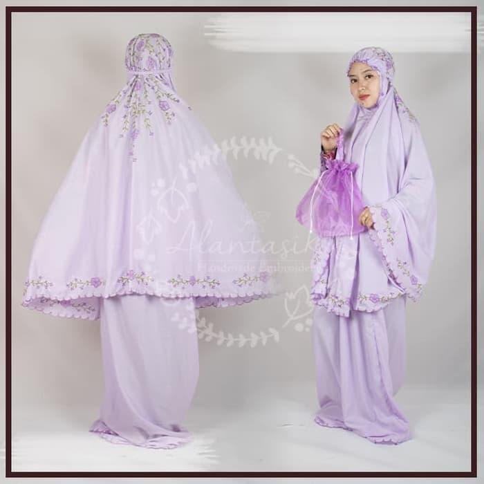 Mukena Bordir Handmade babby Silk / Mukena Murah / Mukena Bali / Bukena Bordir / Mukena bahan bagus / Mukena