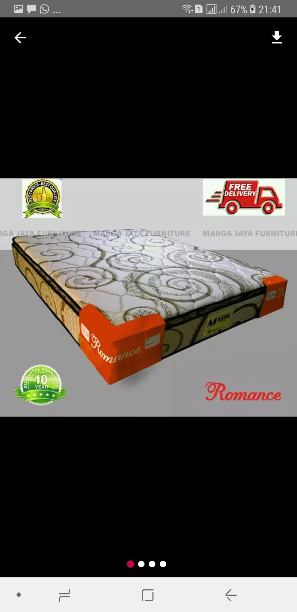 Kasur Matras Spring Bed ROMANCE PILLOW TOP UK. 160 CM