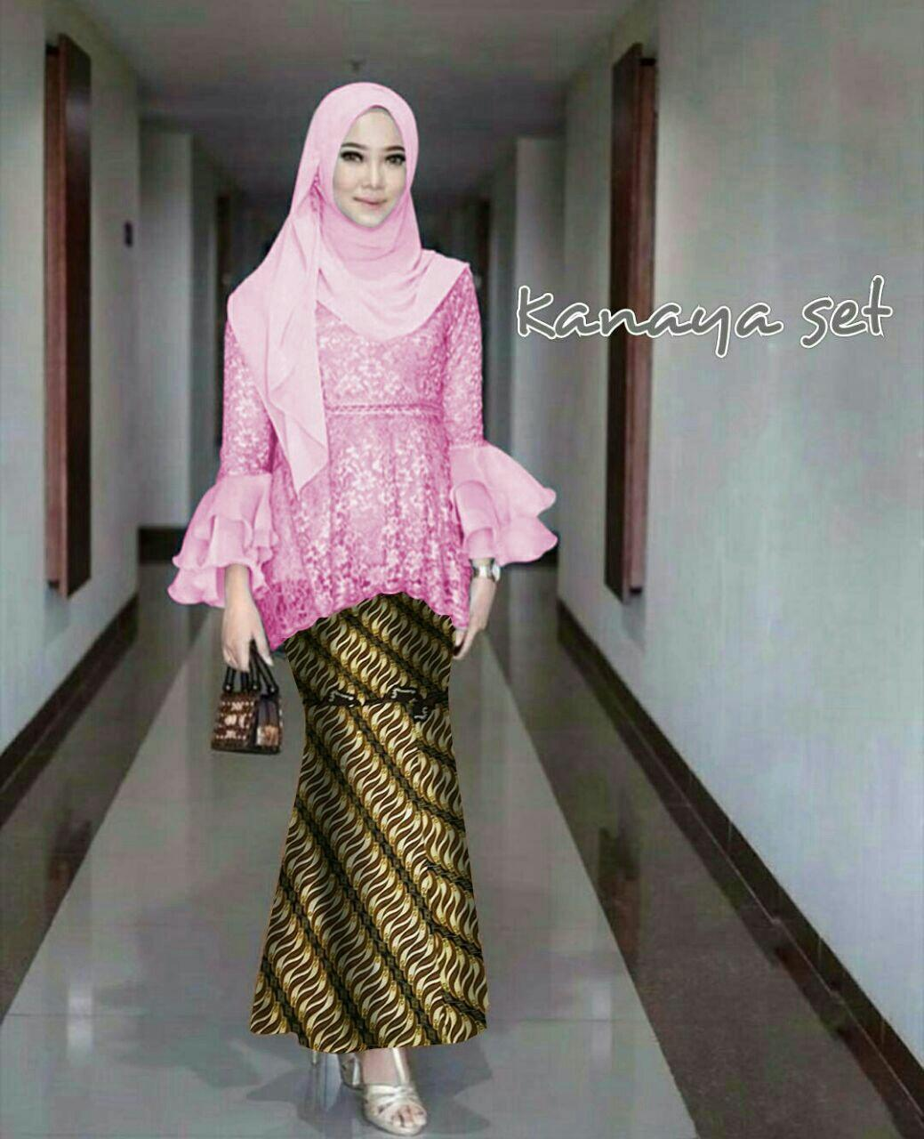 Honeyclothing Setelan Wanita Keniya / Setelan Batik / Kebaya Kutubaru / Baju Muslim