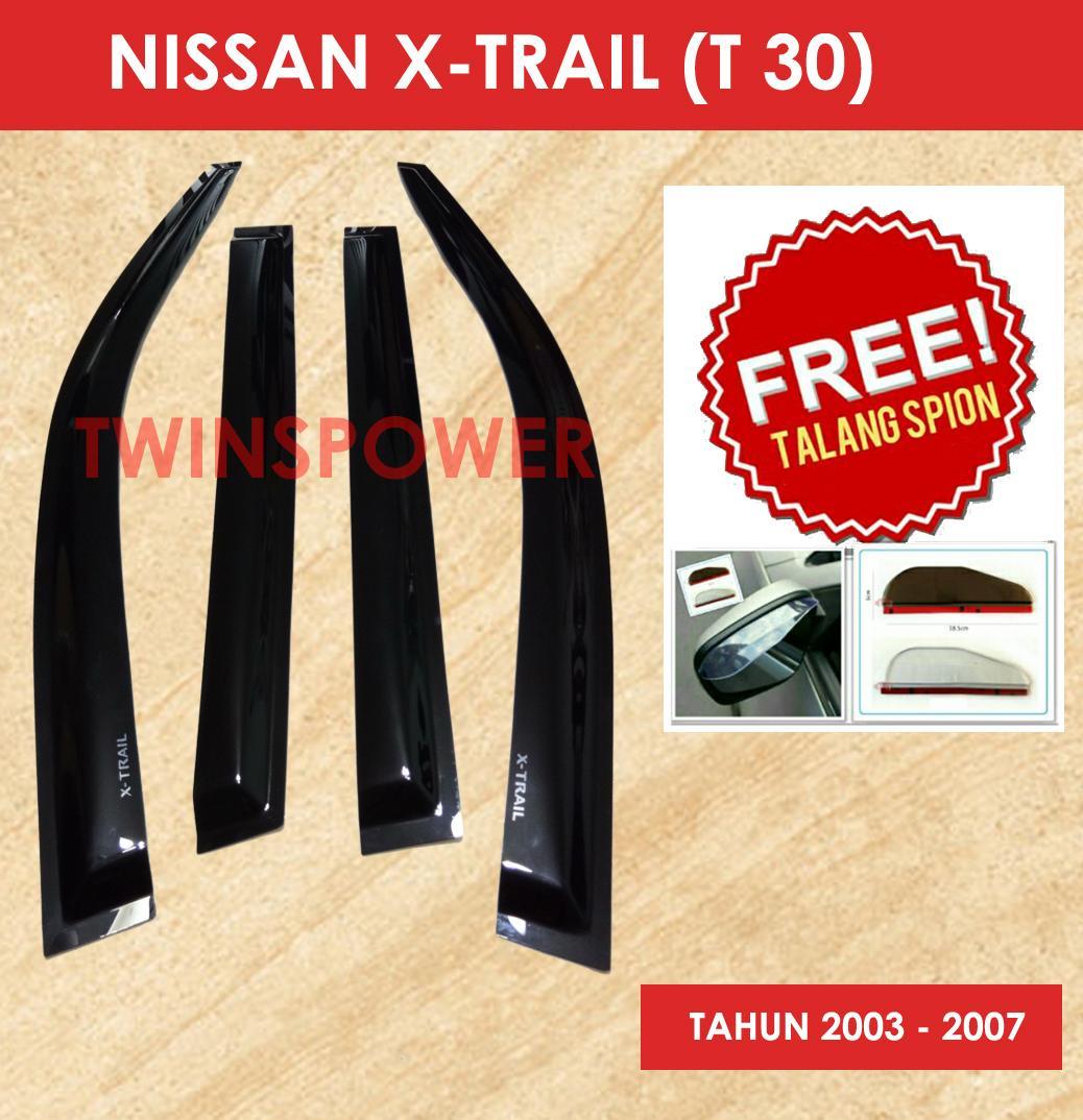 Talang Air Mobil Nissan Xtrail (T30) + FREE Talang Spion