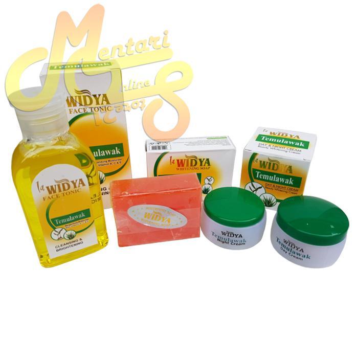 Paket Cream Temulawak Widya 3in1 Original BPOM Whitening - 3 item (Cream Siang Temulawak,