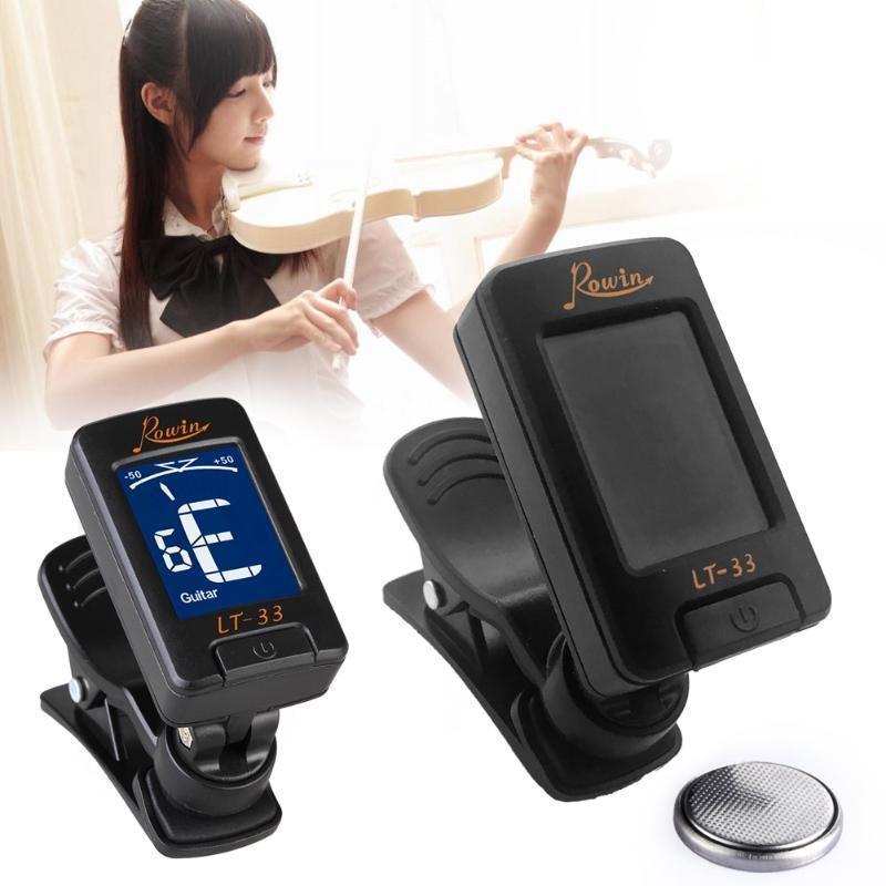 Tuner Gitar Rowin Rotatable 360 Digital Chromatic