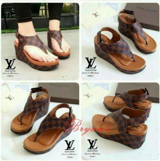SEPATU WEDGES JEPIT LV T51 BG01 / wedges / sandal wedges wanita / slip on / high heels impor / sepatu sneakers / sandal keren / sandal flat / sepatu wanita / sandal wanita / sepatu sandal / sepatu