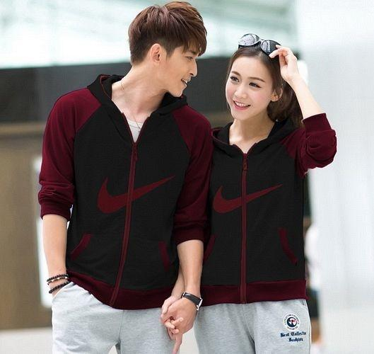 jaket / jacket couple murah nike maroon