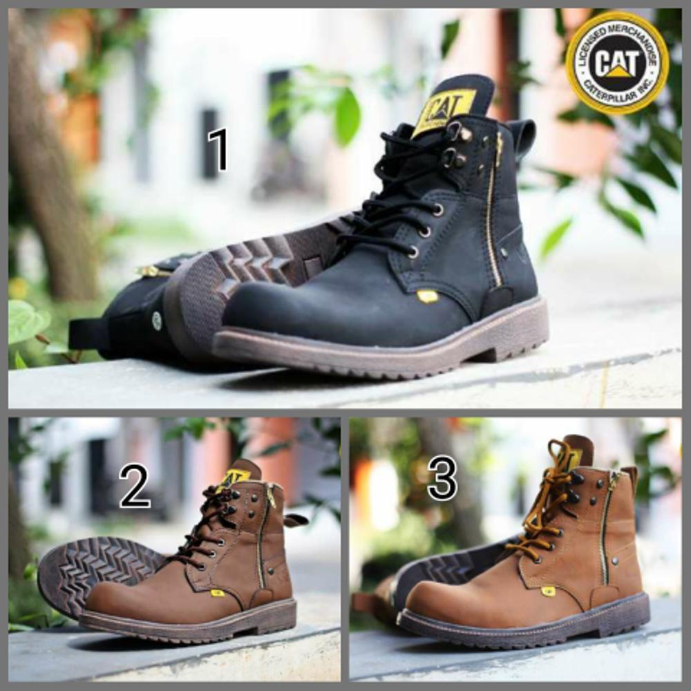 Jual sepatu casual boot pria caterpilar amazon safety Fashion