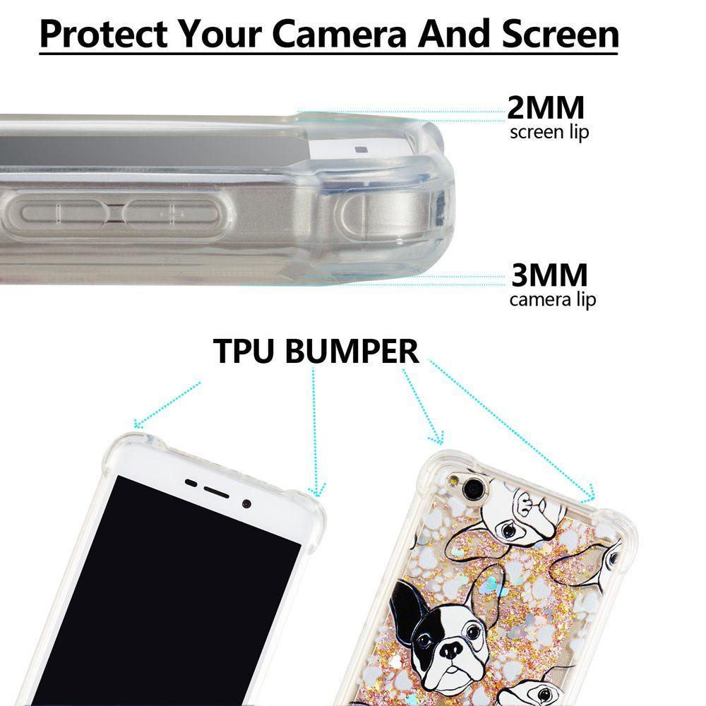 Features Luxury Soft Case For Xiaomi Redmi 4a Cute Bulldog Unicorn Softcase Glitter Diamond Quicksand Shockproof