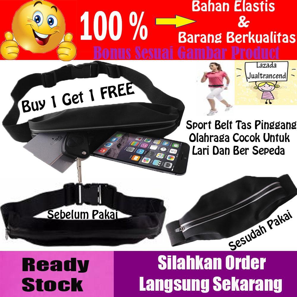 Special Promo Merdeka Buy 1 Get 1  Sport Belt Running Tas Pinggang Waterproof / Bersepeda / Jalan Santai - Hitam Flash Sale Beli 1 Gratis 1 Spesial Agustus