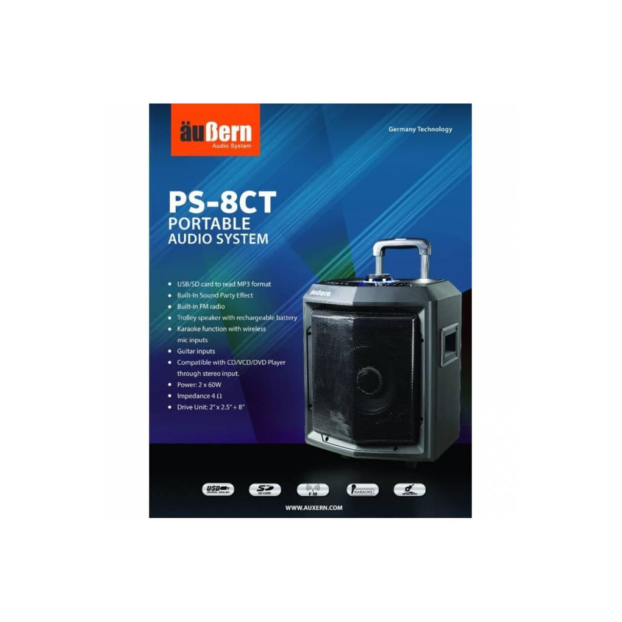 AUBERN PS-8CT audio portable wireless conection - Hitam