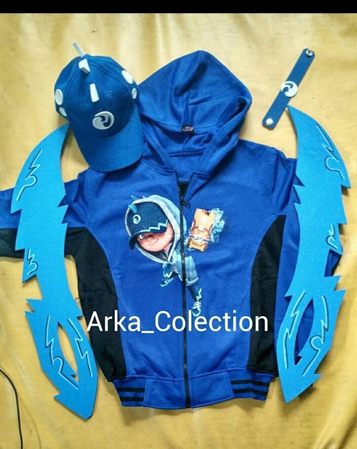 Paket Boboiboy air (Pedang 2 + kostum, Topi, gelang)