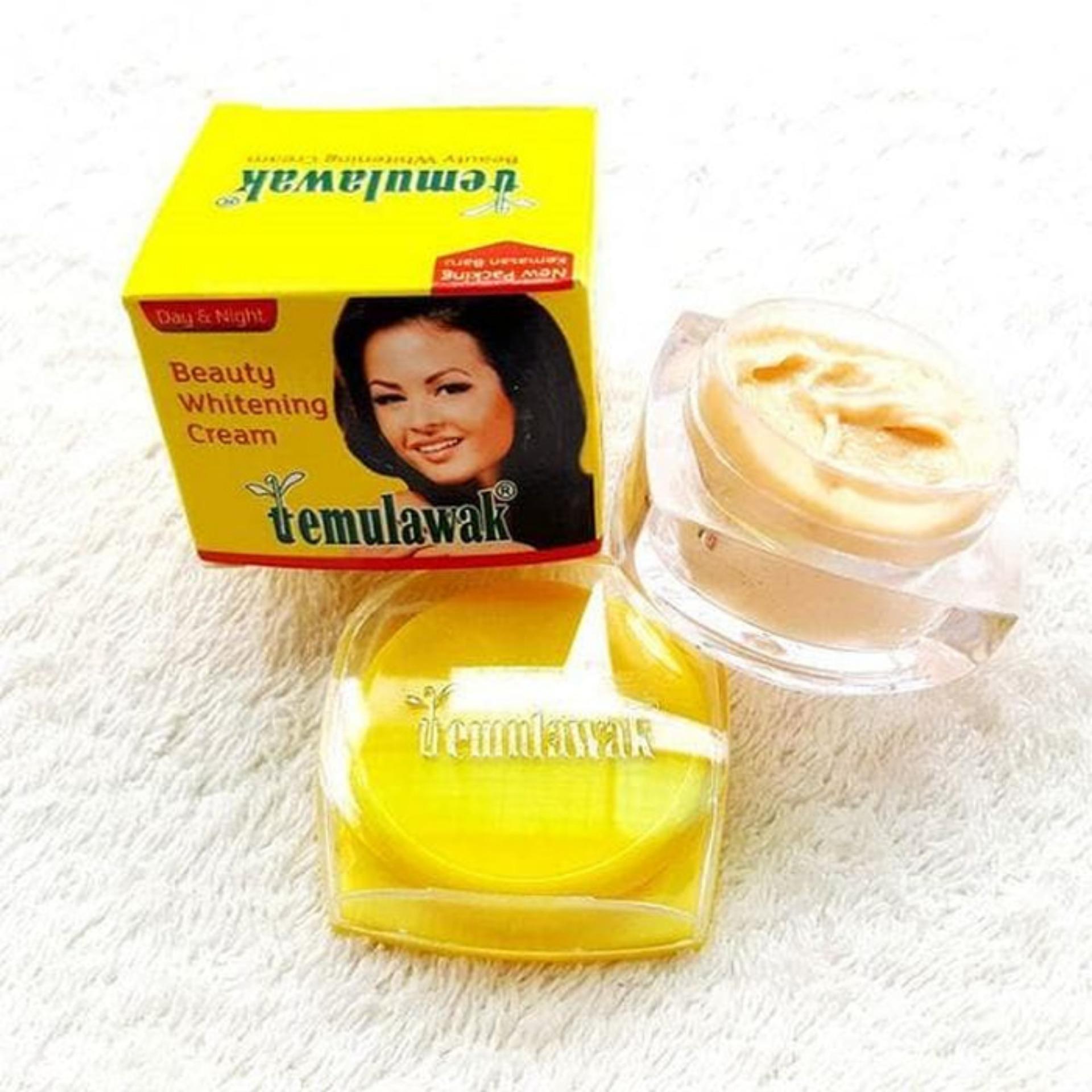 ... HOKI COD - Temulawak Pot Kaca Beauty Whitening Cream - 1 pcs + Gratis Shower Cap ...