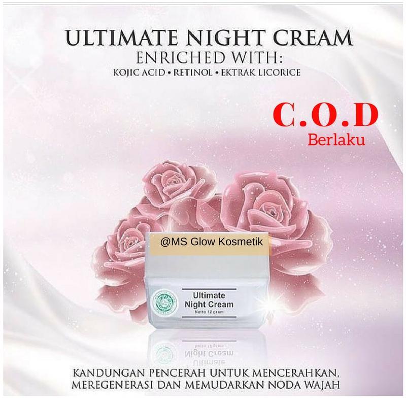 Cream Malam Flek Ms Glow / Ultimate Night Cream MsGlow / Krim Malam / Penghilang Flek