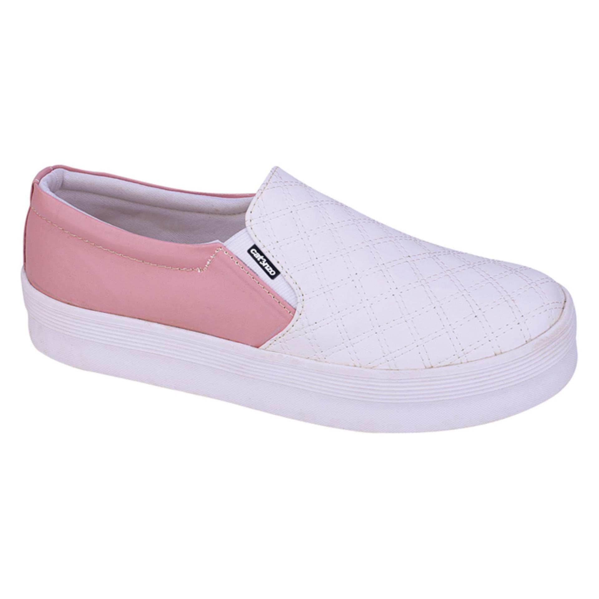 Sepatu Casual Wanita Bahan Synthetic Pink Rubber Outsole