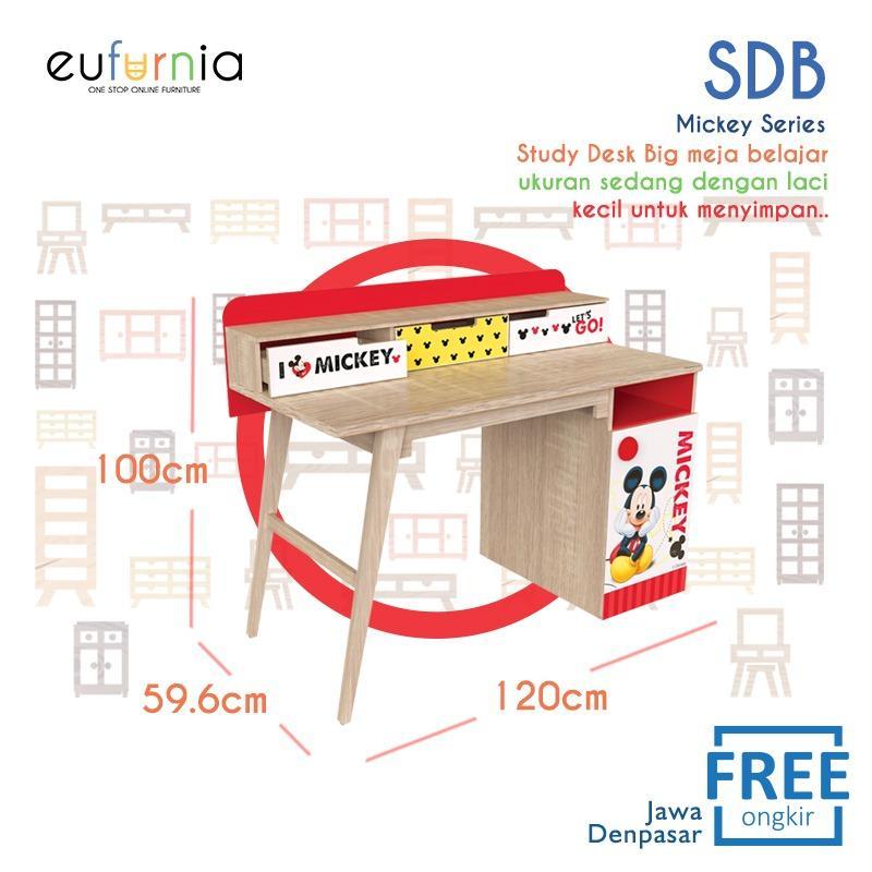 Eufurnia Olympic Kids Mickey Study Desk Big Meja Belajar Anak- SDB 0119694