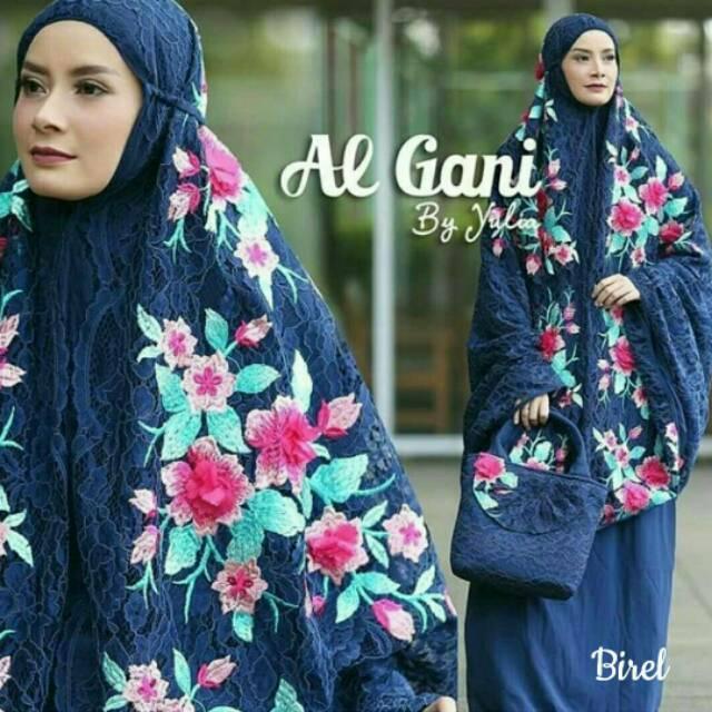 MUKENA Rianti Bunga Flower ALGANI ALGHANI AL-GANI SUPER SALE!!! Broklat Tebal Import Maroon
