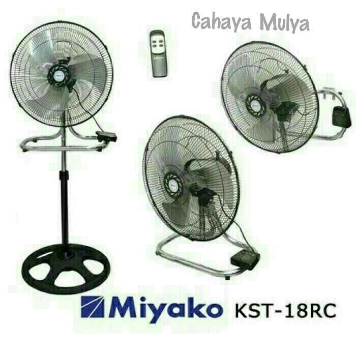 Kipas Angin 3 In 1(Desk/Wall/Stand Fan) Miyako KST-18RC 18