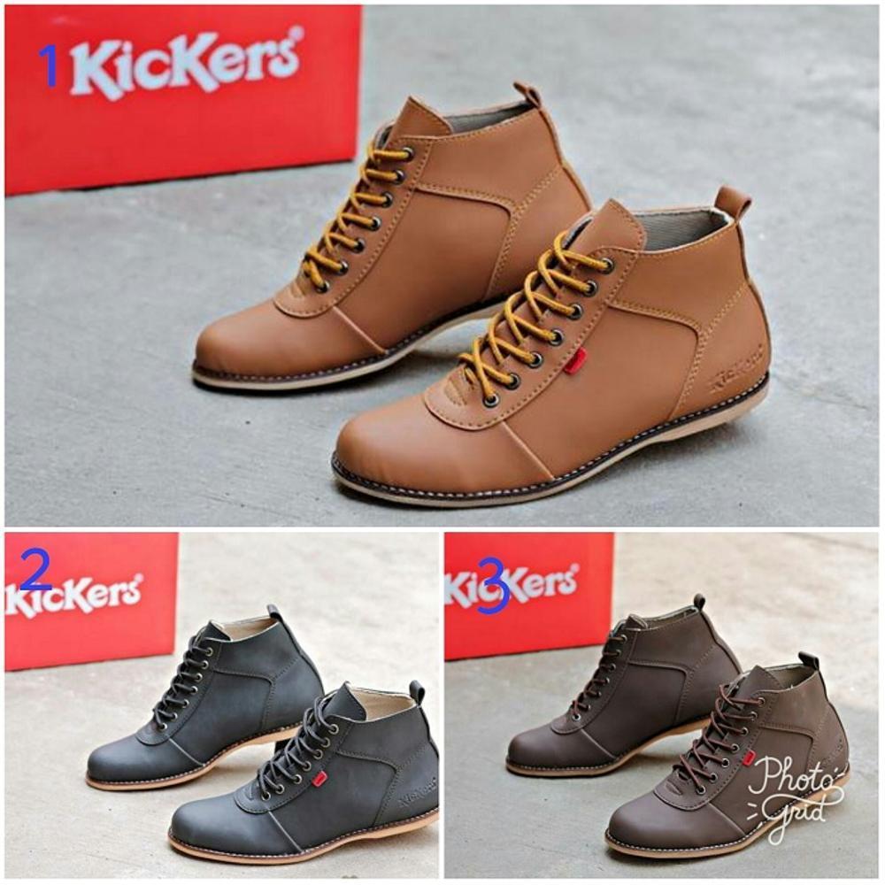 Promo Sepatu Pria Kickers Bhandicot Boots Casual Kerja Kantor Hand Made Original Fashion