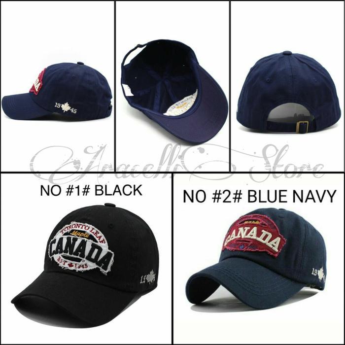 Topi Baseball Caps Import Murah / Topi Canada 1945 Casual Pria Fashion Terlaris di Lazada