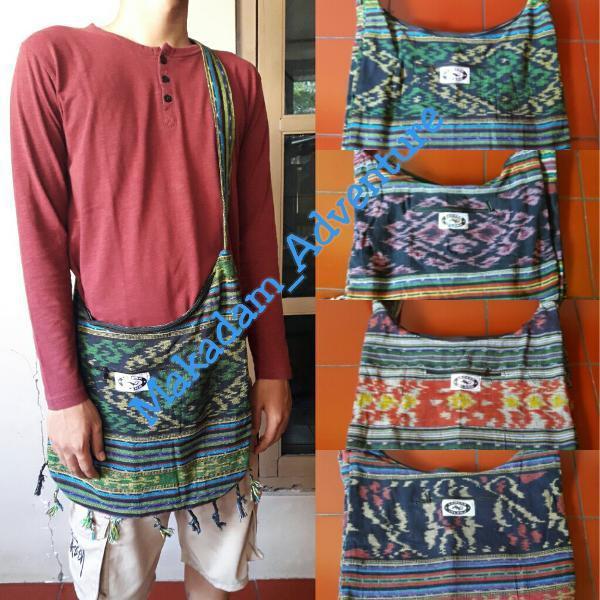 Terbaru !!! tas selempang etnik tenun kain rajut lombok Murah.