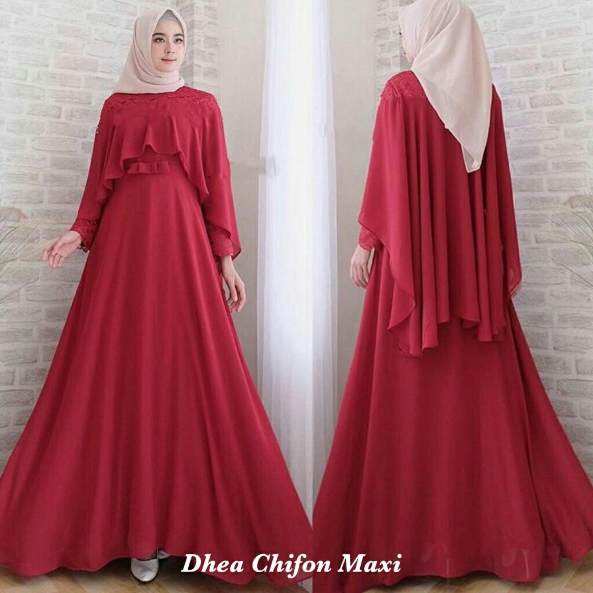 Pakaian Muslimah Wanita Fashionble wanita - gamis syari - Dhea Ananda Sifon