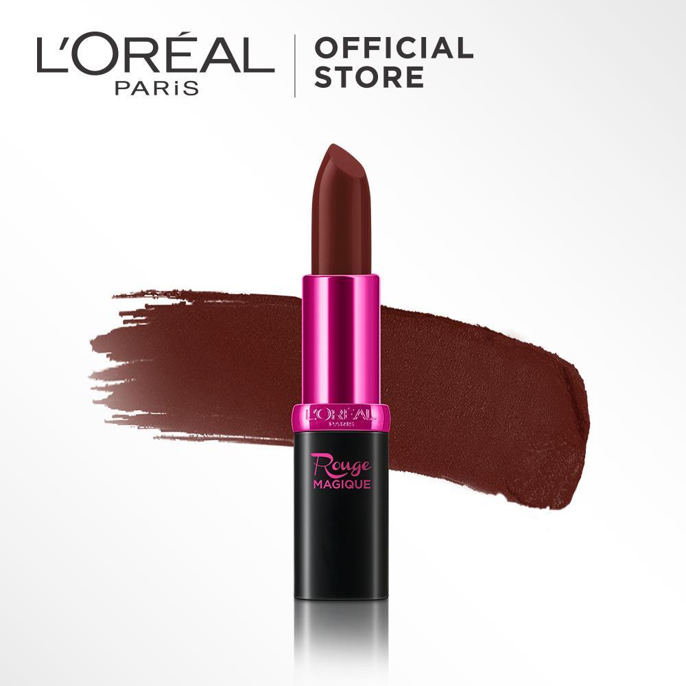 L'Oreal Paris Rouge Magique Lipstick - 901 The Fort by L'Oreal Paris Makeup | Lipstik Loreal Brown / Cokelat Creamy Matte  Long Lasting Lightweight Tahan Lama Ringan Pigmented