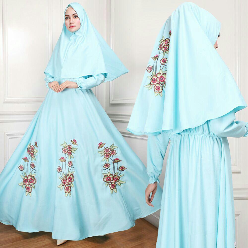 Jakarta Couple - Syari'i Alisa /Syari Maxi Cantik /Baju Gamis Muslim/ Gamis Mutiara / Gamis Murah / Atasan Muslim Wanita / Pakaian Baju Muslim