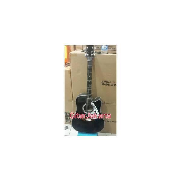 Gitar Akustik Yamaha Jumbo Hitam Murah Jakarta Buat Pemula Belajar