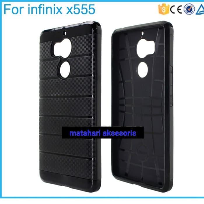 Case Infinix Zero 4 X555 Armor Carbon Case Infinix Zero 4 X555 Hitam